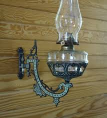 antique oil lantern iron wall mount bracket lamps sconce ornate
