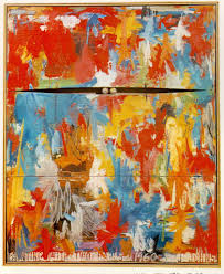 artwork painting with two by jasper johns