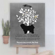 tibetan terrier family tree dog memorial poem personalized plaque sympathy gift loss of pet condolence pet loss gift art print 1104 paper metal