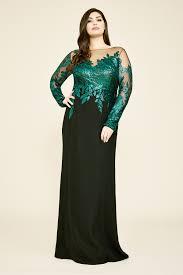 Tadashi Size Chart Finley Long Sleeve Crepe Sequin Gown Plus Size Tadashi Shoji