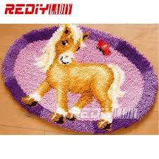 latch hook rug kits diy needlework unfinished crocheting rug yarn cushion mat pony erfly handicraft