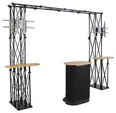 Tv Display Stand For Trade Shows Custom Portable Booth Display Truss Counters And Frame