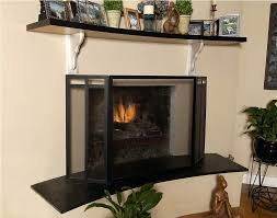 gas fireplace screens image of fireplace screens and doors superior gas fireplace safety screen