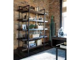 Starmore Modern Rustic/Industrial Bookcase with 5 Shelves
