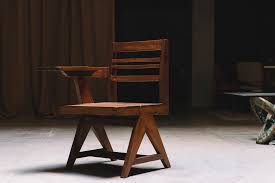home class writing desk chair by pierre jeanneret