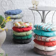 inspiring outdoor round seat pad dining bistro cushion 25 best ideas about outdoor seat cushions on cushions