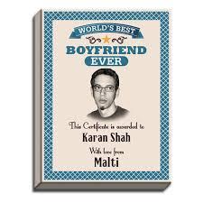 Worlds Best Boyfriend Award Canvas Print