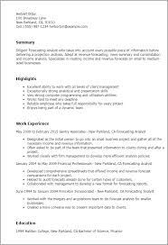 Resume Analysis Enchanting Professional Forecasting Analyst Templates To Showcase Your Talent