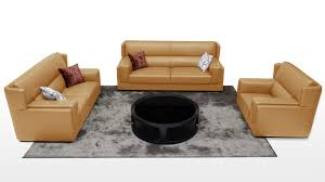 Living Room With Brown Leather Couch Modern Leather Sofas Contemporary Living Room Furniture Zuri