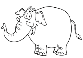 Disegno Di Felice Elefante Dei Cartoni Da Colorare Disegni Da