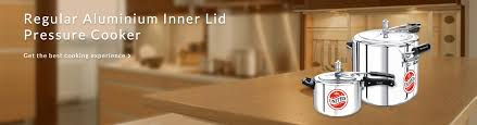 regular aluminium inner lid home pressure cooker