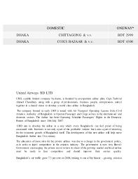Biman Bangladesh Airline Schedules And Fare