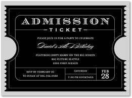 Ticket Stub Invitation Template - Dtk Templates