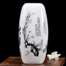 Plum bamboo chrysanthemum four sides <b>ceramic vases Hydroponic</b> ...