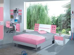 Wonderful Lavish Pink Combines With Neutral Grey With A Fresh View In A Cute Pink Girls  Bedroom Idea