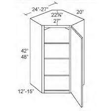 kitchen diagonal corner wall unit x