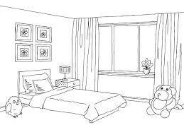 living room clip art black and white