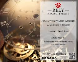 Fine Jewellery Sales Assistant Rely Recruitment