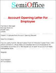 Sample Business Letters Appointment New Bank Account And Experience ...