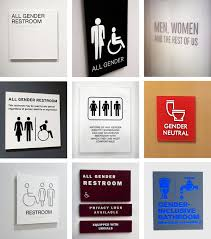 Bathroom Symbol Extraordinary In AllGender Restrooms The Signs Reflect The Times The New York
