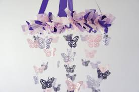 Lavender Baby Shower Decorations Butterfly Nursery Mobile In Purple Lavender Pink Nursery