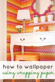 how to wallpaper furniture. How To Wallpaper With Wrapping Paper Furniture