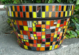 cool ideas to create small garden decoration with mosaic plant pot astounding home accessories for