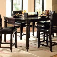 Large Kitchen Table Sets Kitchen Black Elegant Dining Set Tall Kitchen Table Upholstered