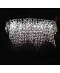 triangle pendant crystal chandelier