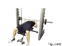 Smith Machine Decline Bench Press  Exercise Database  Jefit Smith Bench Press Bar Weight