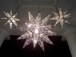 lighted moravian stars tin stars and starlights and lighted decorative glass star fixtures