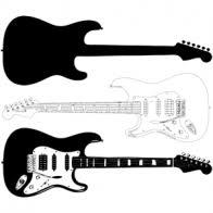 Electric Guitar Vector I Heart Vector