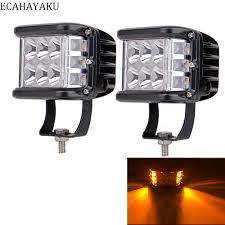 <b>2Pcs ECAHAYAKU For</b> Jeep Car Led Bar <b>4Inch</b> 60W Led Pods ...