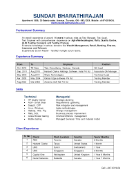 Software Qa Manager Resumes Test Manager Resume