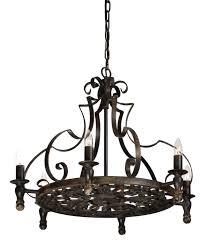 gothic wrought iron black stunning black chandelier vintage style