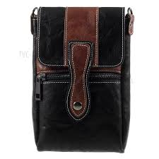 6 3 inch outdoor tactical pu leather pouch utility gadget case with cell phone holster black
