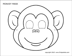 1) if you have javascript enabled you can click the print link in the top half of the page and it will automatically print the coloring page only and ignore the advertising and navigation at the top of. Monkey Mask Free Printable Templates Coloring Pages Firstpalette Com Monkey Mask Monkey Crafts Coloring Mask