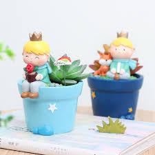 2019 Cartoon <b>Roogo</b> 6 Cute Prince Succulent <b>Pots</b> Resin Little <b>Boy</b> ...