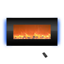 northwest 30 5 in wall mount electric fireplace with led backlights in black
