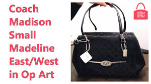 Coach Madison Small Madeline East West Satchel in Op Art 25638 - YouTube
