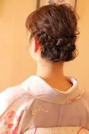 結婚式 和服 着物 髪型 エスポワールリボン 波ウェーブ ヘアアレンジ