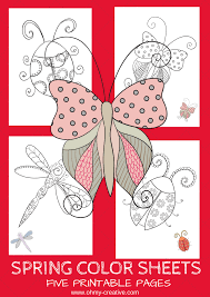 5 Free Printable Spring Coloring Pages Oh My Creative