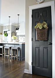 FOCAL POINT STYLING Painting Interior Doors Black  Updating - Dining room paint colors dark wood trim