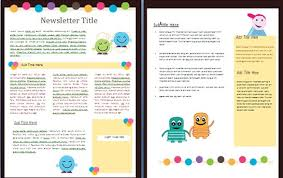 Template For School Newsletter Free Printable Schedule