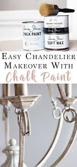 diy chalk paint chandelier makeover chalk paint diy projects inspiration chalk paint chandelier diy
