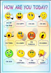 How Are You Feeling Today Chart Esl Worksheet By Driceyj