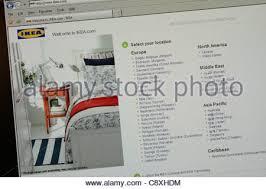 ikea furniture retailer worldwide website - Stock Photo