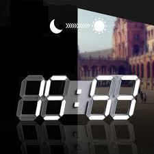 digital wall clock 3d led