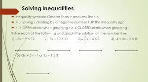3 solving inequalities