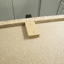 build up strips attached to the bottom of a countertop